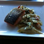 King Salmon with Ravioli
